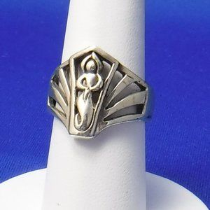 Sterling Silver Ring, 7 1/2